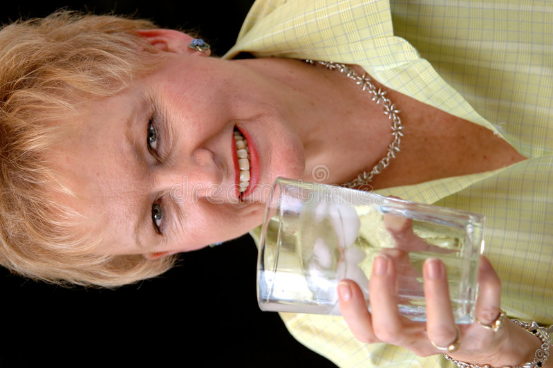 Download Senior Woman Drinking Water Stock Image - Image of background, glass: 1793525