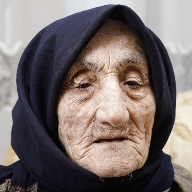 Senior woman face royalty free stock photography