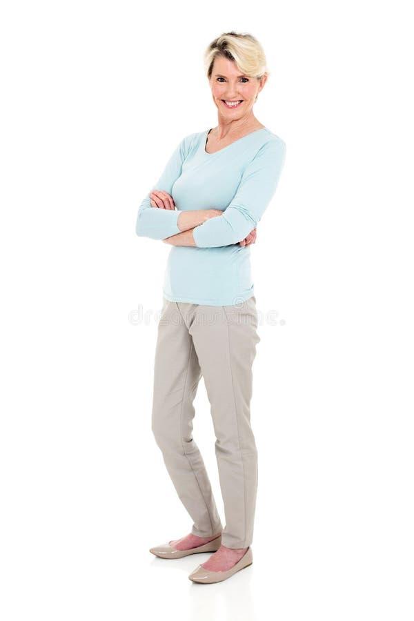 Senior woman full length stock images
