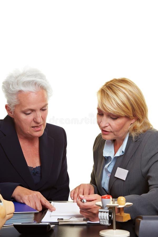 Download Senior Woman Getting Financial Stock Image - Image: 21173361