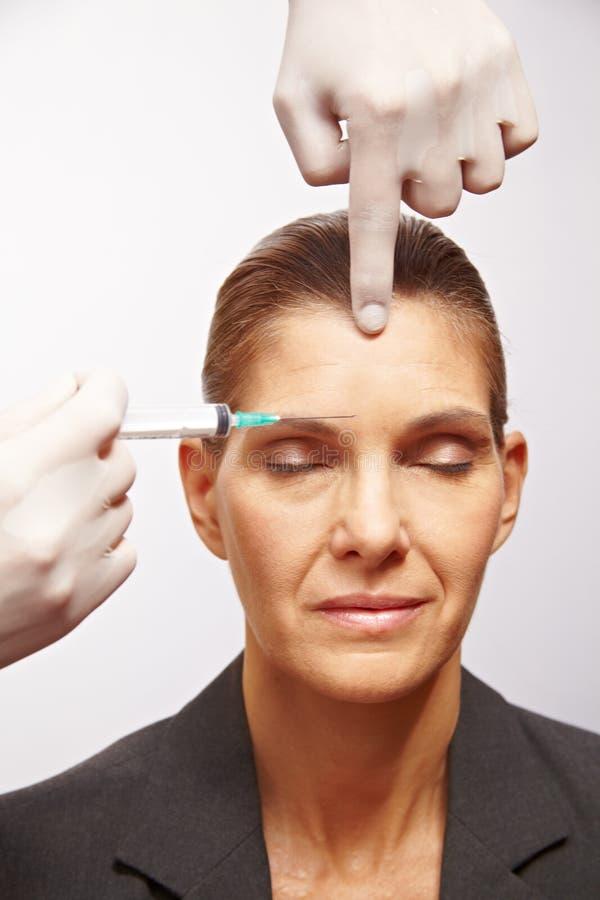 Senior Woman Getting Plastic Surgery Royalty Free Stock Photos