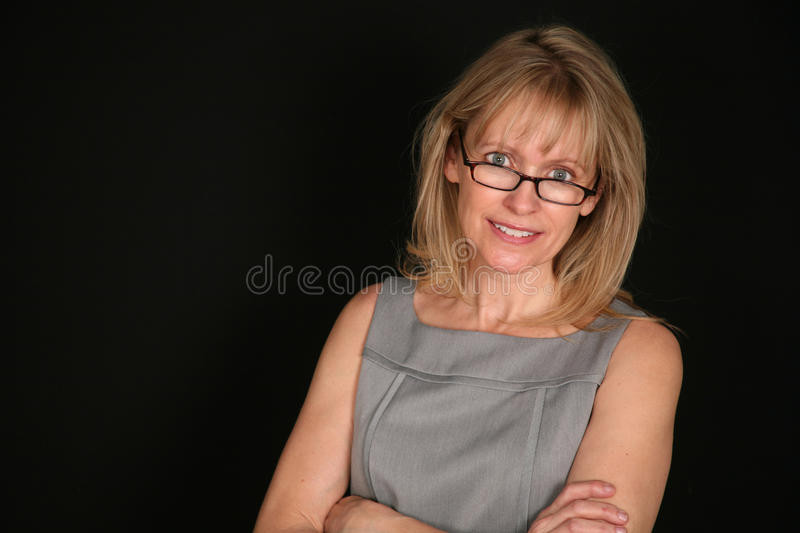Senior Woman With Glasses Royalty Free Stock Photos