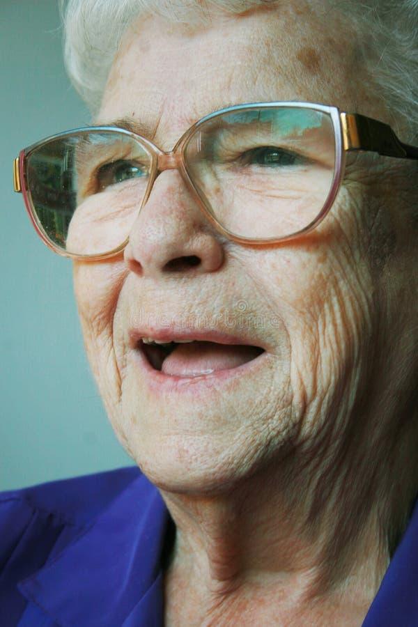 Senior woman happy royalty free stock photos