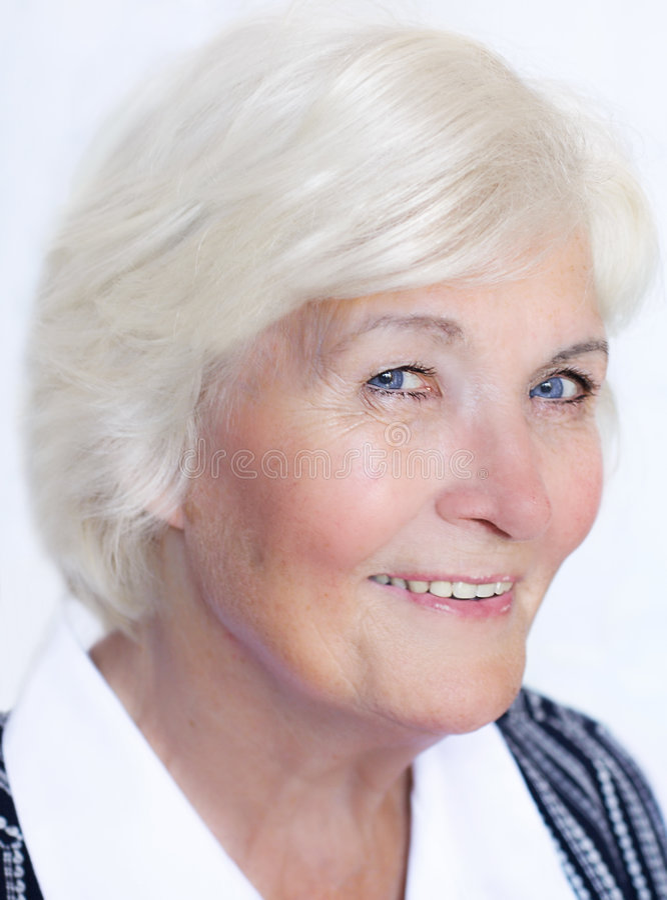 Senior woman happy stock images