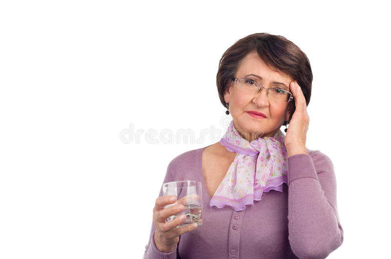 Download Senior woman with headache stock photo. Image of adult - 27740002