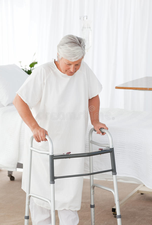 Download Senior Woman With Her Zimmer Frame Stock Image - Image: 18108037