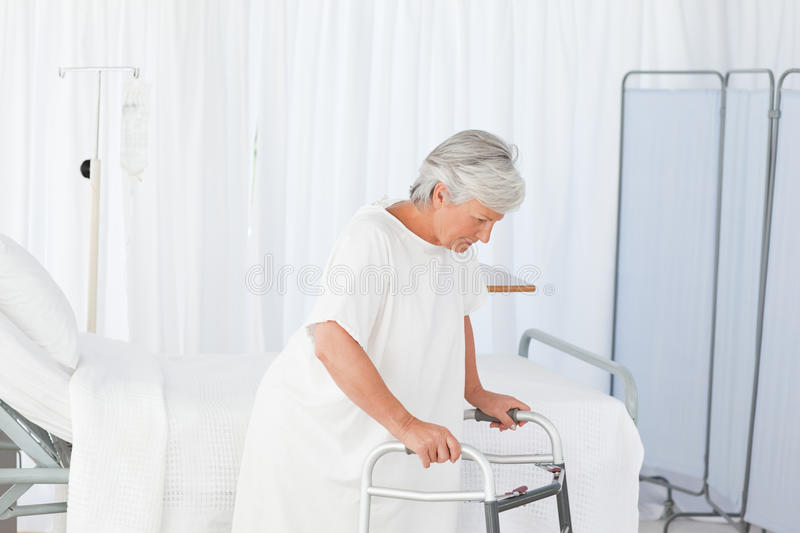 Download Senior Woman With Her Zimmer Frame Stock Photo - Image: 18108064