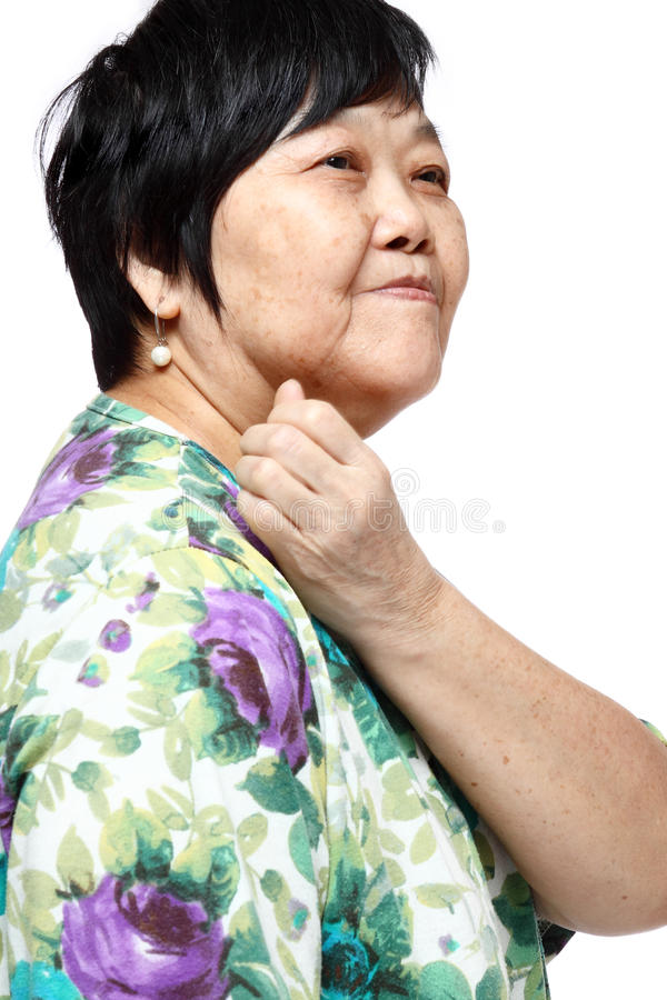 Download Senior Woman Holding Her Aching Back Stock Photo - Image: 23812906