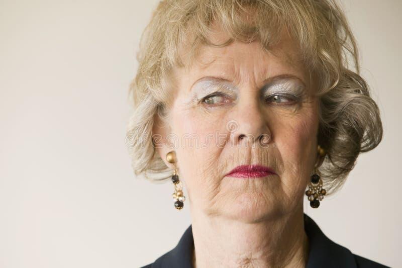 Senior Woman Looking Left