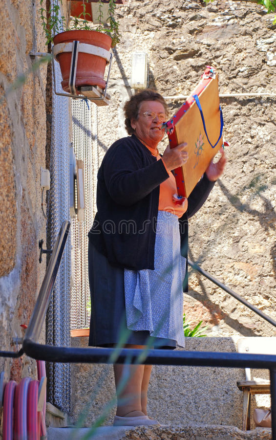 Download Senior Woman In Medieval Village Idanha-a-Velha, Portugal. Editorial Stock Image - Image: 38159509