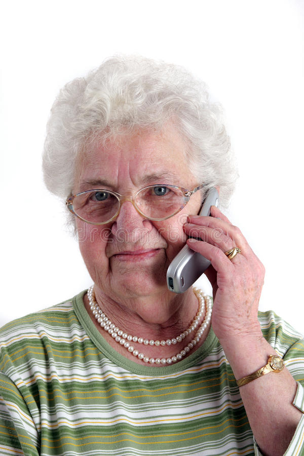 Download A Senior Woman With Mobile Phone Stock Photo - Image: 19689300