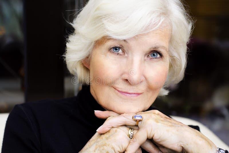 Senior woman portrait royalty free stock photos