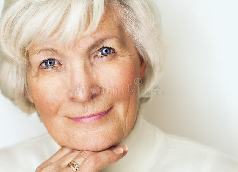 Senior woman portrait 142 royalty free stock image