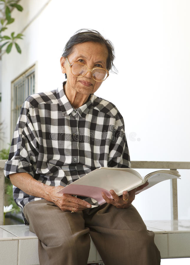 Download Senior Woman 70s Years Old Reading Book Stock Images - Image: 32267004