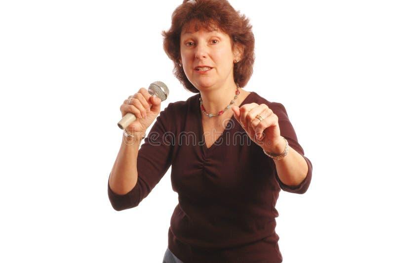 Download Senior woman singing stock image. Image of macro, aged - 508033