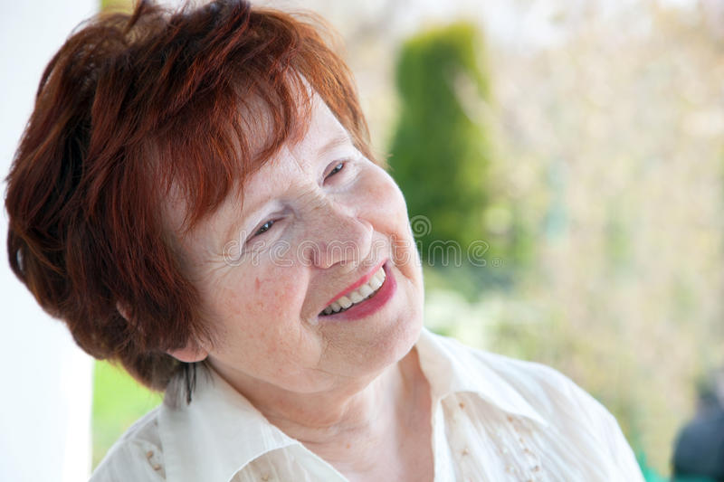 Senior Woman Smiling Royalty Free Stock Photography