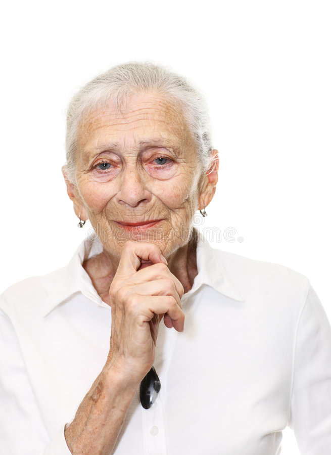 Senior woman smiling stock photos