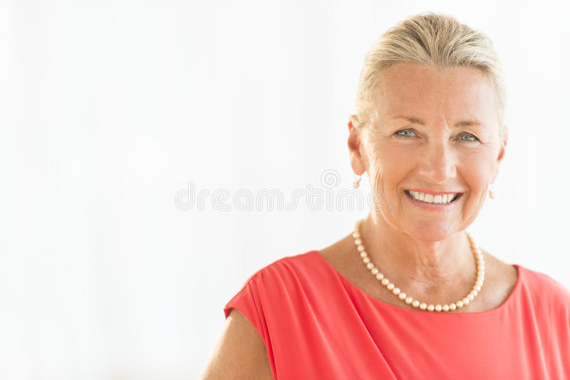 Senior Woman In Smiling royalty free stock image