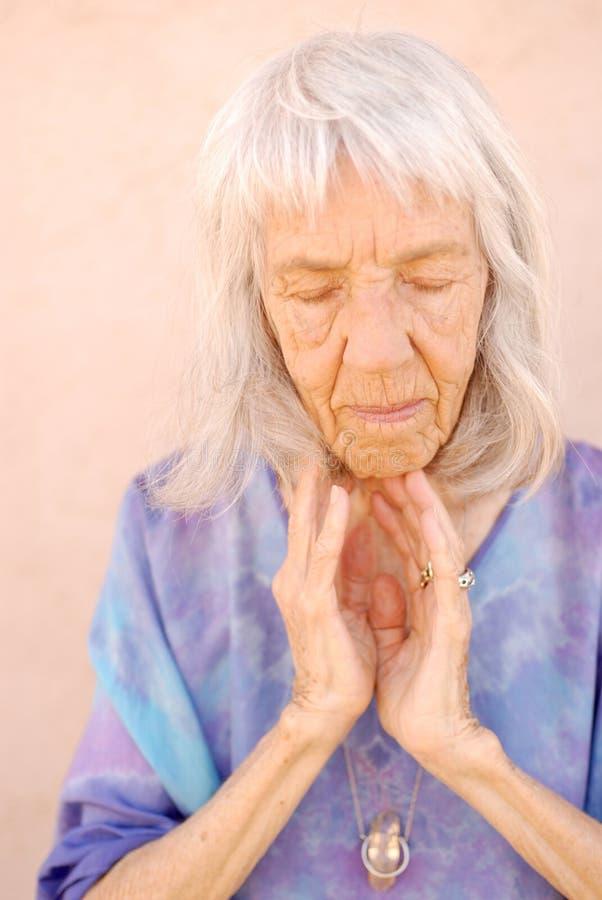 Senior Woman Soulful stock image