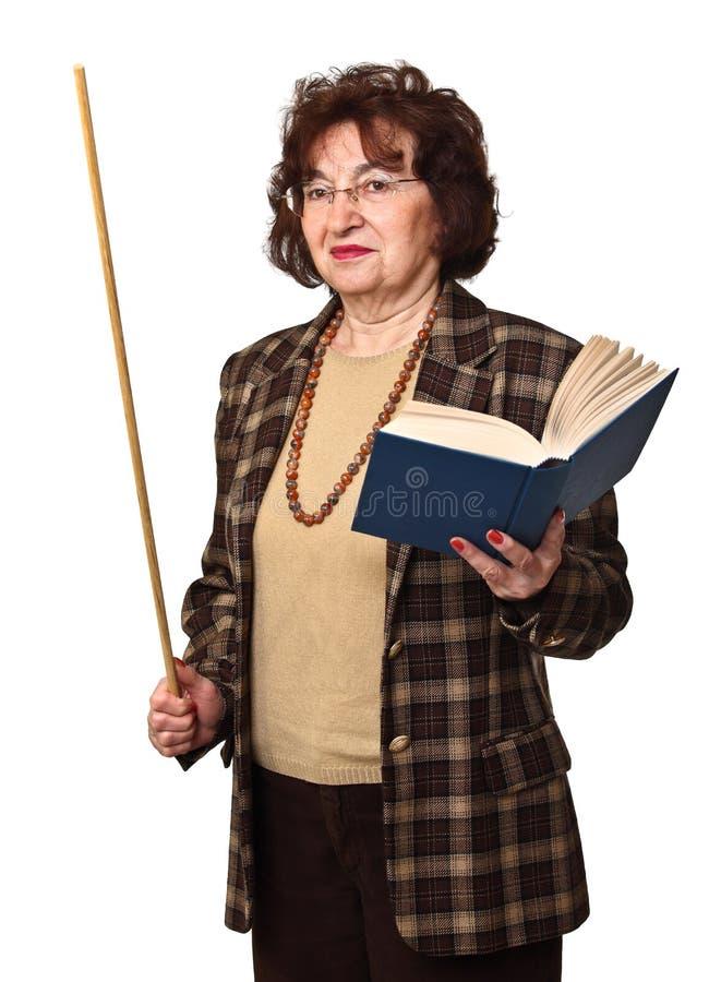 Senior woman teacher stock photos