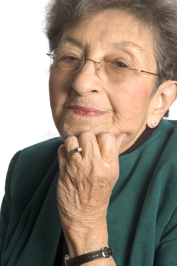 senior woman in thought royalty free stock photos