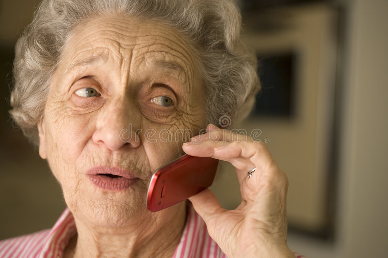 Download Senior Woman Using Cell Phone Stock Image - Image: 4603641