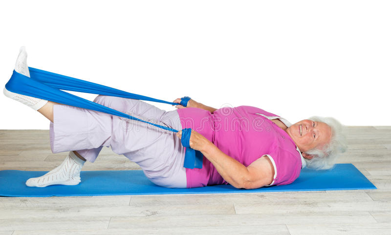 Senior woman with vitality exercising royalty free stock photography