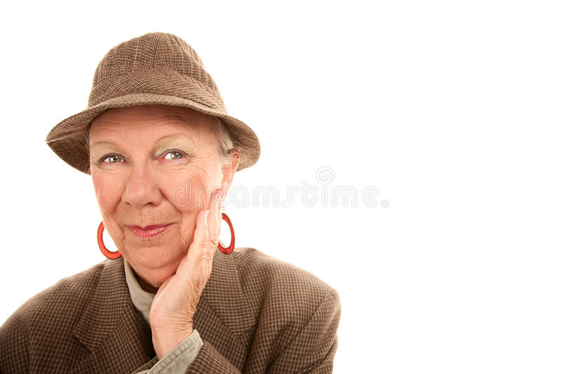 Download Senior Woman Wearing Male Clothing Stock Image - Image of white, gender: 13091367