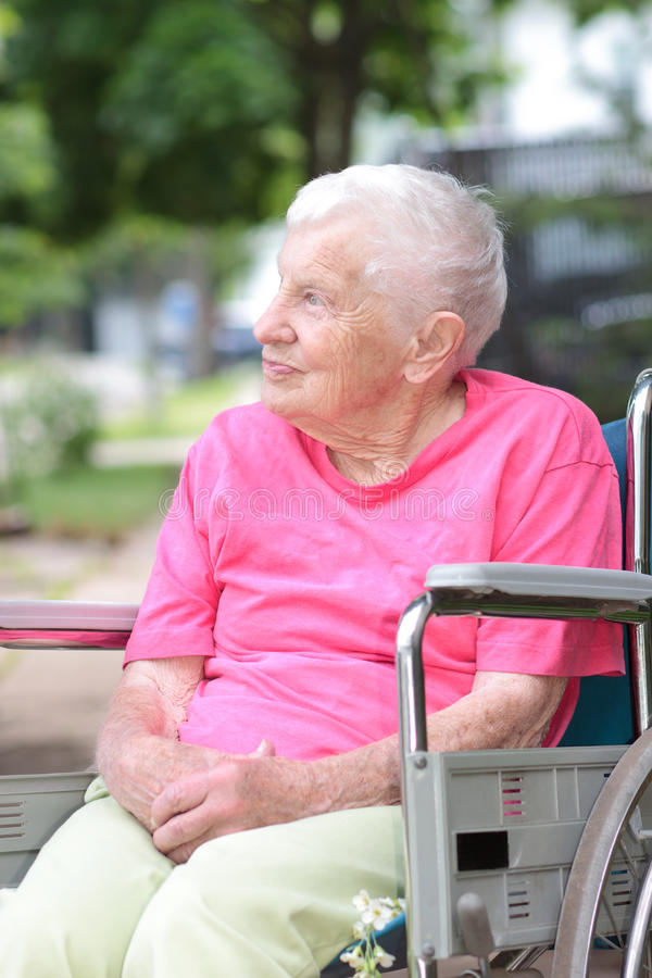 Download Senior Woman in Wheelchair stock photo. Image of female - 25216722