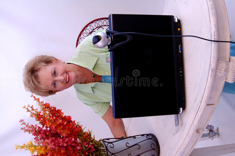 Senior Woman Working Stock Image