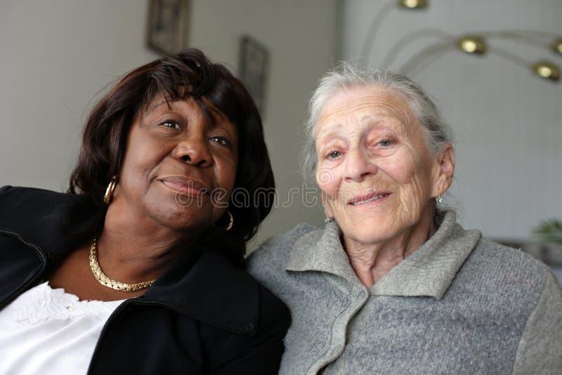 Senior women stock images