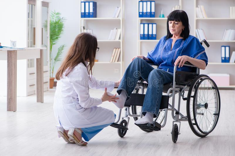 The senior woman visiting doctor for regular check-up. Senior women visiting doctor for regular check-up stock image
