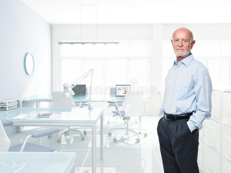 Download Senior at work stock image. Image of senior, standing - 20697393