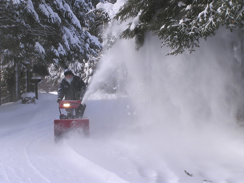 Download Senior at work stock photo. Image of motorized, winter - 319528