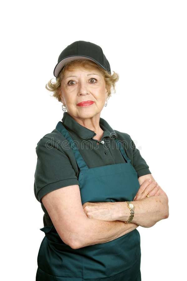 Senior Worker - Personal Pride royalty free stock images