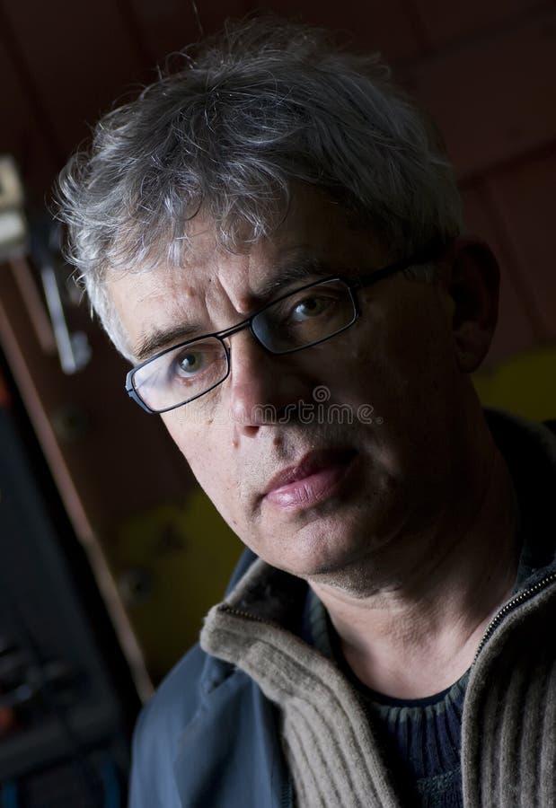 Senior workman portrait stock photos