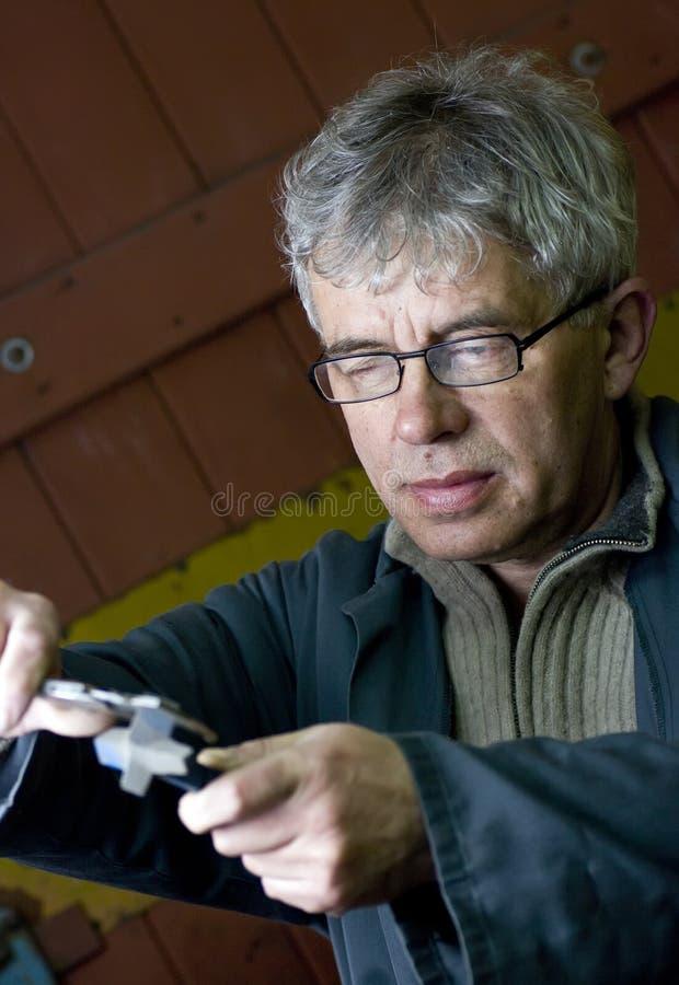 Senior Workman Portrait Stock Photo