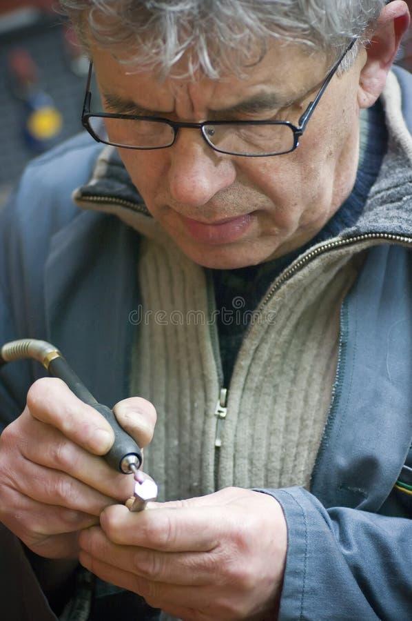 Download Senior workman portrait stock photo. Image of hair, adult - 4779474