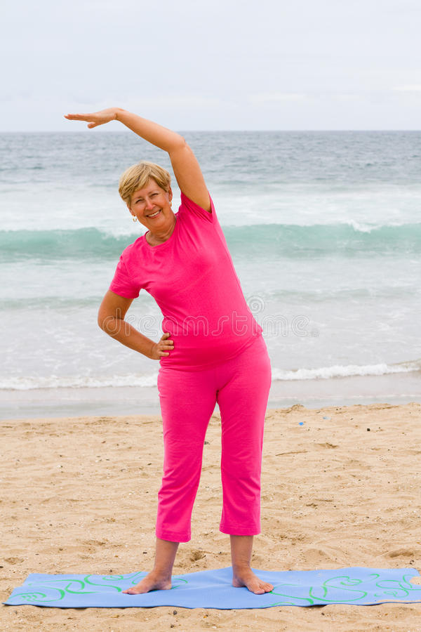 Senior workout royalty free stock images