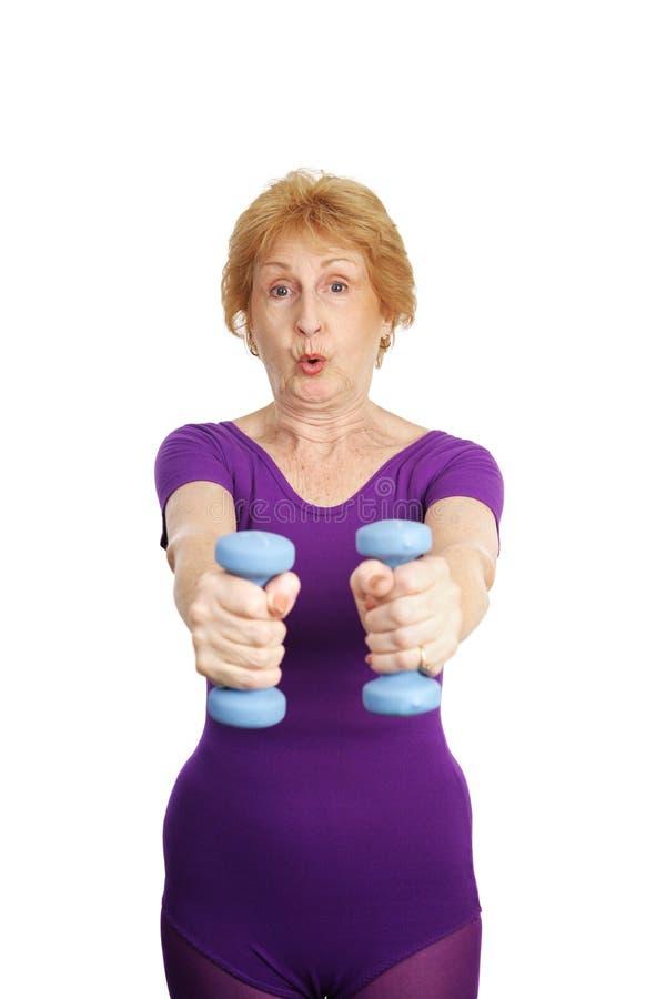 Senior Workout - Freeweights E Stock Images