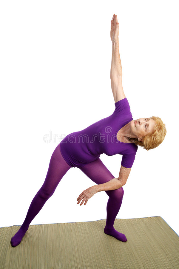 Download Senior Yoga - Modified Triangl Stock Image - Image: 3043055