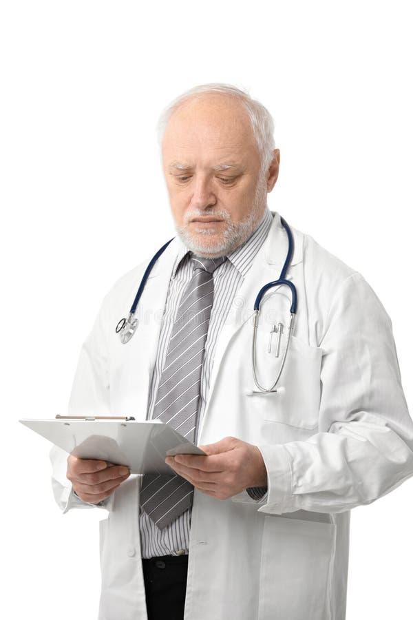 Download Seniora Doktorscy Target789_0_ Przy Papiery Zdjęcie Stock - Obraz: 27720698
