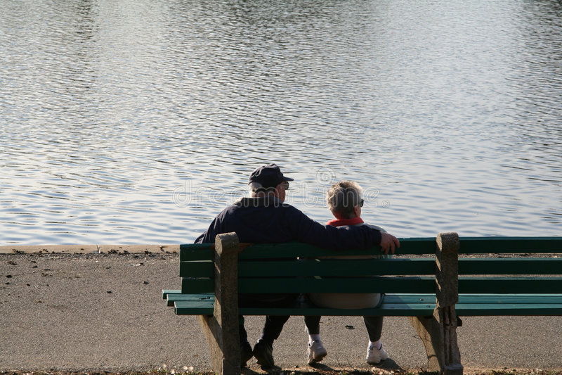 Seniors royalty free stock image
