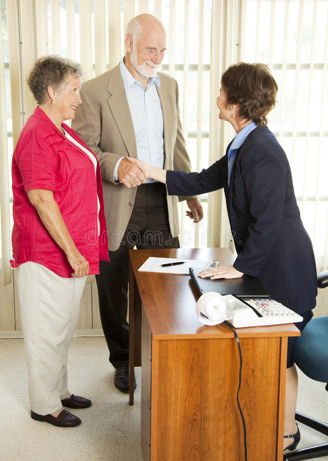 Download Seniors Apply for Loan stock image. Image of loan, economy - 15345423