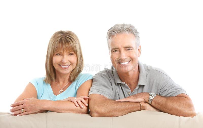 Seniors couple royalty free stock images
