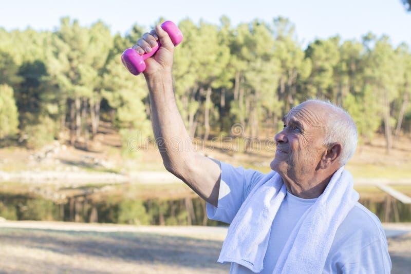 Seniors doing outdoor sports. Seniors people doing outdoor sports royalty free stock photos