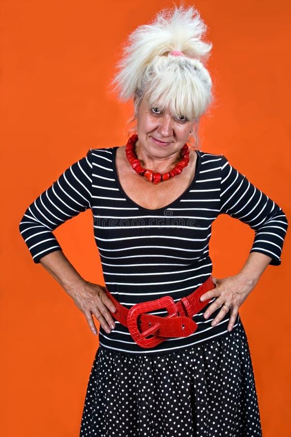 Seniors fashion royalty free stock photography