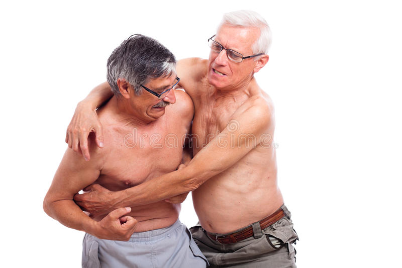 Seniors fight royalty free stock photography