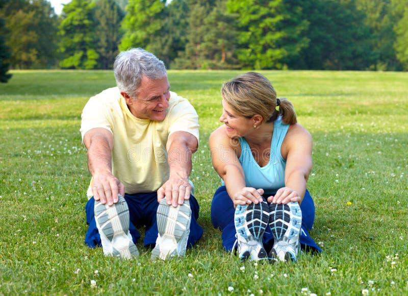 Seniors fitness stock photos