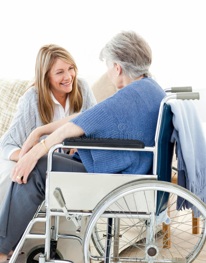 Free Seniors Friends Talking Together Stock Photography - 18109452